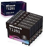 Hicorch Reemplazo para Epson T1291 Cartucho de Tinta Negra Compatibles con Epson Workforce WF-3520 WF-7515 Stylus SX235W SX425W SX430W SX435W SX445W SX525WD SX535WD BX305FW BX525WD BX630FW(6 Negro)