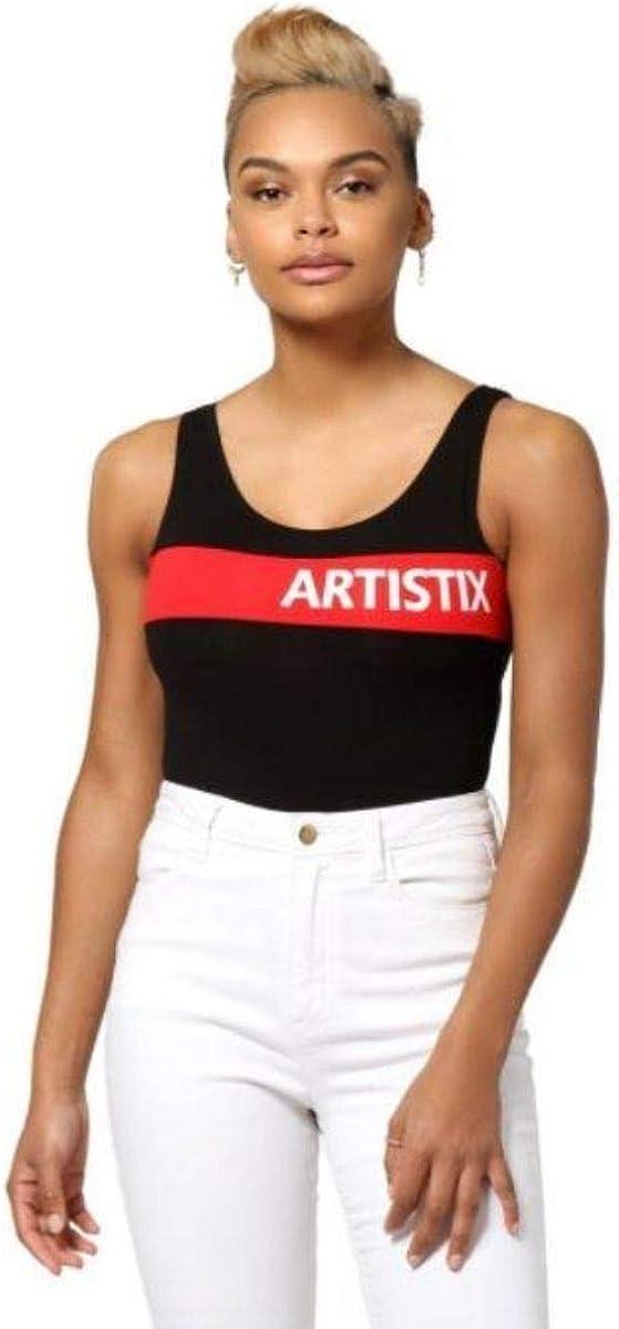 Artistix Chest-Stripe Logo Bodysuit Stretch - Black XL