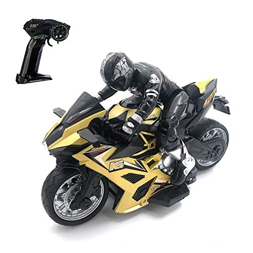 pop mart Remote Control Motorcycle Toy Stunt Performing Car...