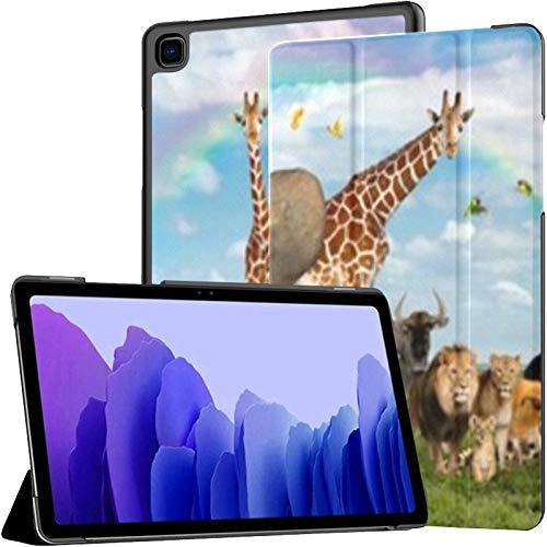Funda para Tableta Samsung Galaxy Tab A7 de 10,4 Pulgadas 2020 (sm-t500 / t505 / t507), Gran Grupo Africano Fauna Safari Wildlife Funda de Soporte de múltiples ángulos con activación/suspensión aut