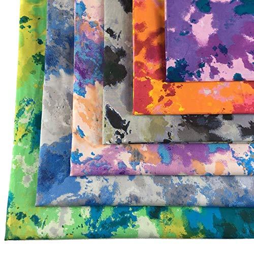 Ibalulu 6 unidades de 48 x 48 cm de tela de algodón por metros para coser, patchwork, telas de costura, manualidades, mezcla degradada