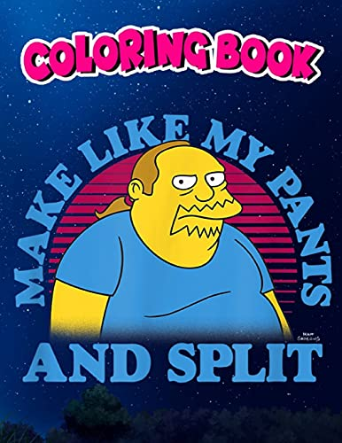 Coloring Book: The Simpsons Comic Book Guy Make Like My...