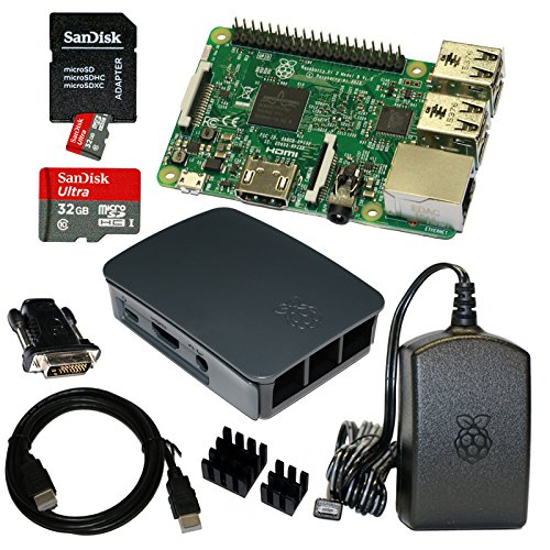 Raspberry Pi 3 Model B Bundle / Starter Set mit Zubehör 32 GB (schwarz)