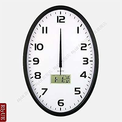 Y-Hui 18 In The Living Room Wall Clock Mute Large Electronic Clock Calendar Quartz