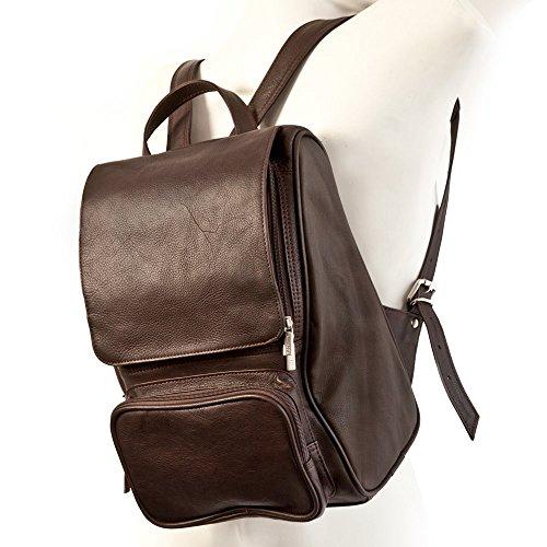 Mittel-Großer Lederrucksack Größe M Laptop Rucksack bis 14 Zoll, für Damen und Herren, Braun, Jahn-Tasche 710