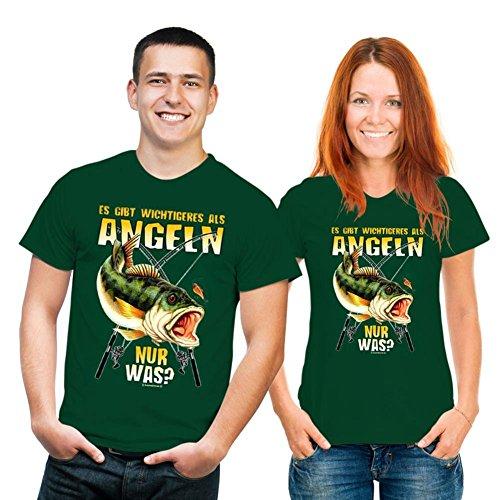 empireposter - Wichtigeres als Angeln - T-Shirt - Größe (cm), ca. M - Textilien, NEU - auch in den Grössen (S M L XL XXL) Herren 44-46/48-50/52-54/56-58/60-62 und Damen 36-38/40-42/44-46/48-50/52-54 - 100% Baumwolle Öko-Tex Standard 100