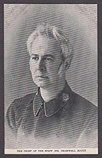 The Chief of the Staff Mr Bramwell Booth Salvation Army postcard 1900s