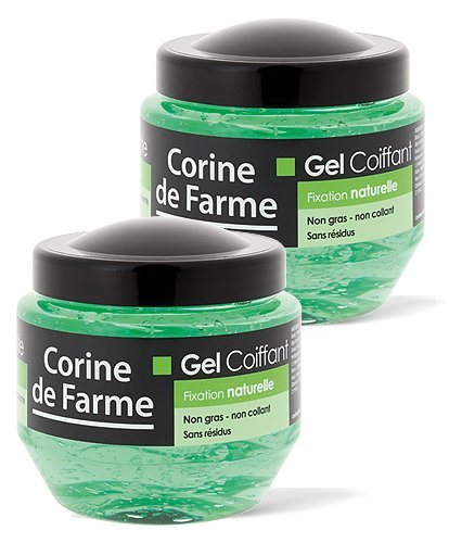 Lot de 2 Gels coiffants fixation naturelle 250 ml