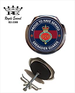 Bomb Design Grenadier Guards Leather Medallion Keyring