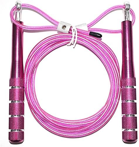 QIANMEI Cuerda de Saltar Jump Rope Saltando Cuerdas para la Fitness   Rodamiento de Metal Saltando Cuerda   Ideal para Ejercicio aeróbico NDurance Formning y Home Fitness (Color : Purple)