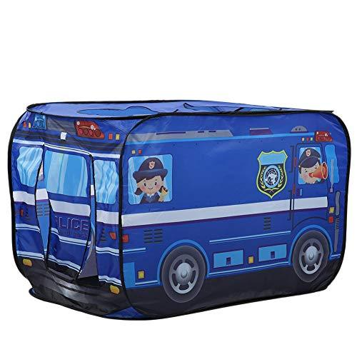 Tienda de juegos plegables para niños, juegos de pop-ups para niños Piscina para niños Juegos de interior y exterior Juego Casa Camión de helados Policía Camión de bomberos(Autobús de la policía)