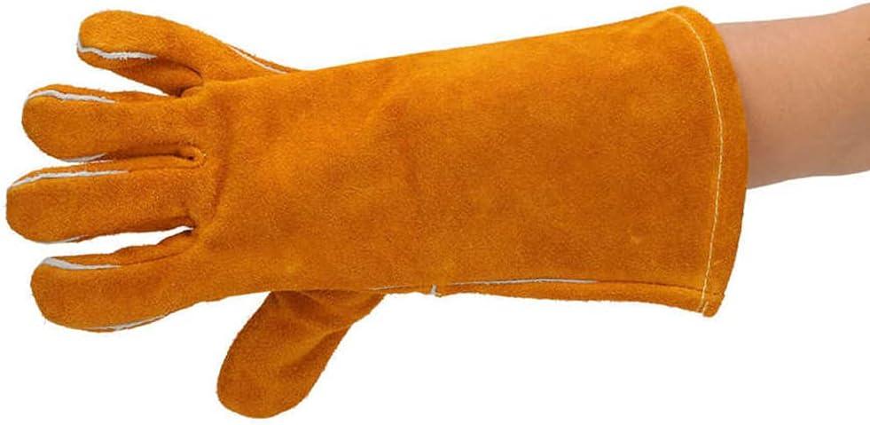 Ranking Fashion TOP20 Roadiress Brown Welding Gloves,1 Pair Cowhide Glove
