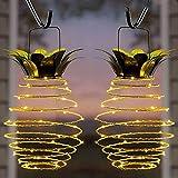 Garten-Lichterkette mit Ananas-Solar-Lichterkette zum Aufhängen, solarbetrieben, Kupferdraht,...