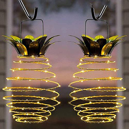 Garten-Lichterkette mit Ananas-Solar-Lichterkette zum Aufhängen, solarbetrieben, Kupferdraht, wasserfest, LED-Lampe für den Außenbereich