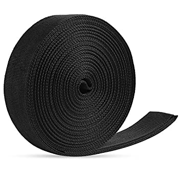JALAN Sangle en polypropylène de 38 mm pour sacs, sacs à dos, ceintures, harnais, élingues, colliers et câbles d'environ 10 m - noir