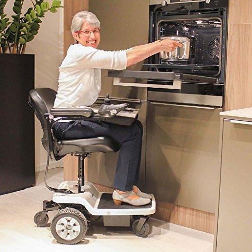 Meyra iGo, compacte elektrische rolstoel, de micro mobiel, ruimtewonder, rijklaar gemonteerd door Burbach+Goetz, levering per vervoersbedrijf