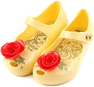 Mini Beauty Beast Kids Jelly Girl Princess Sandals Shoes Rose Teacup