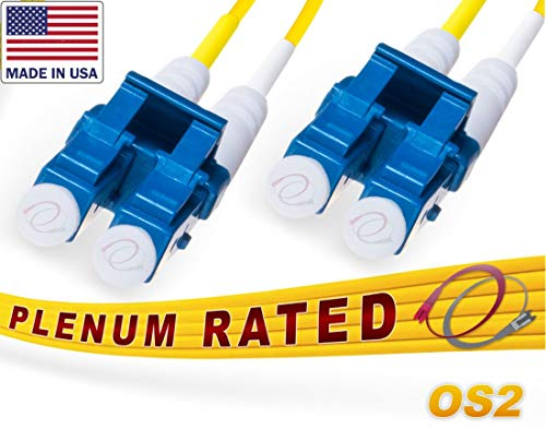FiberCablesDirect - 300M OS2 LC LC Fiber Patch Cable - Made in USA...