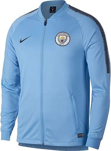 Nike MCFC m NK Dry sQD TRK JKT Veste K , Homme, MultiCouleure (Field bleu Dark Obsidian Dark Obsidian)