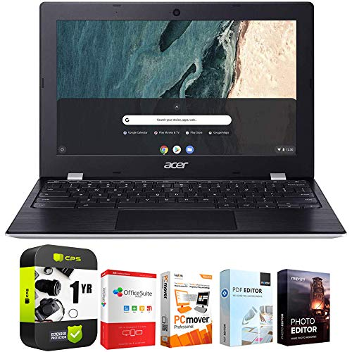 """Acer Chromebook 311 CB311-9HT-C4UM 11.6"""" Intel N4000 4GB/32GB Touch Laptop Bundle w/Elite Suite 18 Software (Office Suite Pro, Photo Editor, PDF Editor, PCmover Pro) + 1 Year Protection Plan"""