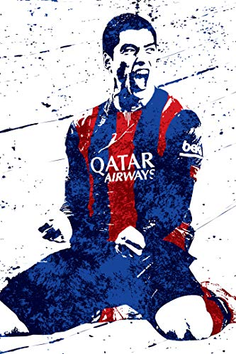 """SMARTZONE Luis Suarez Futbol Soccer Art Wall Room Poster - Water Resistant Poster (Size: 24"""" x 36"""")"""