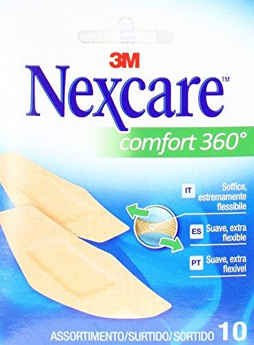 Nexcare Tiritas Comfort 360°, 10 Surtidas - 10 Unidades