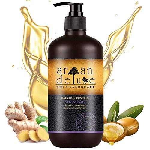 Argan Deluxe Haarwachstums-Shampoo in Friseur-Qualität 300 ml - TESTURTEIL SEHR GUT - effektive Hilfe gegen Haarausfall - für kräftiges Haar & mehr Volumen