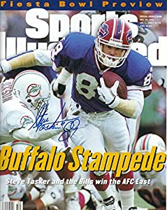 Autographed Steve Tasker 8x10 Buffalo Bills Photo