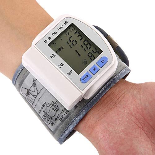 ZPPZ Handgelenk-Blutdruckmessgeräte, 90 Speicherplätze gesamt mit komfortabler EIN-Knopf-Bedienung zur einfachen, vollautomatischen Blutdruck- und Pulsmessung am Handgelenk