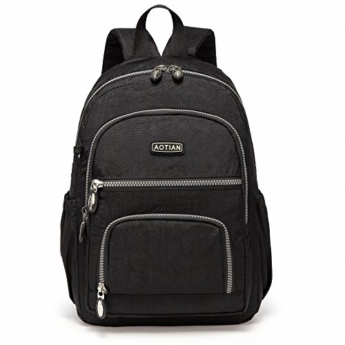 AOTIAN Lightweight Durable Travel Hiking Women and Girls Small Backpack Daypack 9 Liters Black