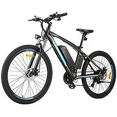 BIKFUN 27.5 pouce vélo électrique vélo électrique vélo électrique avec 10 Ah batterie lithium, VTT Shimano 21 vitesse 250W Moteur Vélo électrique (27.5» Aventurier - 10Ah)