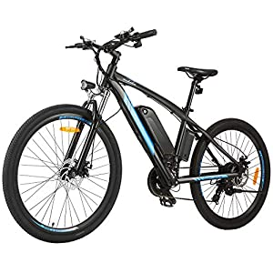 immagine di BIKFUN Bicicletta elettrica, 20/26 Pollici, Batteria al Litio (36 V 8 Ah/12,5 Ah), 250 W, 21 velocità/7 Marce