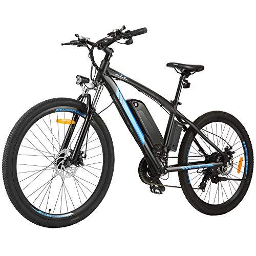 BIKFUN 27.5 Zoll E-Bike Elektrofahrrad mit 10 Ah Lithium-Akku, Mountainbike Shimano 21-Gang 250W Motor Elektrisches Fahrrad (27.5