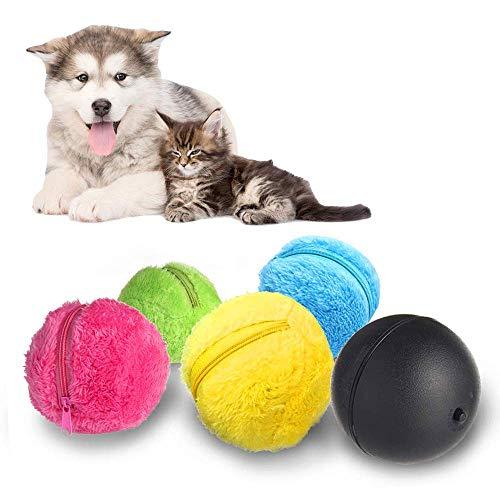 Kakeyi Automatischer Rollender Ball Elektrische Spielzeug Ball für Hund, Mini Roboterreiniger Hunde Intelligenz Spielzeug Ball, Elektrischer Angetriebener Ball