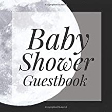 Baby Shower Guestbook: Full Moon Night Goth Halloween Spooky Pagan Signing Sign In Book, Welcome New Baby Girl with Gift Log Recorder, Address Lines, Prediction, Advice Wishes, Photo Milestones