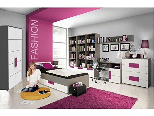 Jugendzimmer Libelle Komplett Verschiedene Ausführungen Kinderzimmer Möbel (Jugendzimmer Libelle 9tlg mit Eckkleiderschrank)