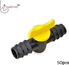 TWENOZ Drip Irrigation Accessories 16 mm Plastic Straight Connector with Tap Joiner Regulator Flow Adjustor Set of 50pcs