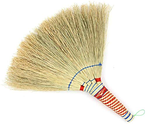For Sale! Zichen Straw Broom Sweeping Dust Wear Resistant Hand Made Wall-Mounted Strong Toughness An...