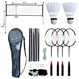 LIVIVO FiNeWaY@ 4 PLAYER BADMINTON RACKET SET WITH NET SHUTTLECOCKS & CARRY CASE SPORTS