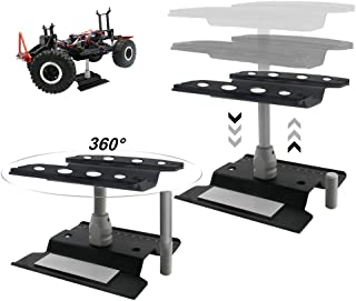 Aluminum Model Repair Station Workstation Work Stand 360° Rotation Height Adjustable for 1/8 1/10 1/16 Scale RC Car Monster Crawler Trucks Buggy
