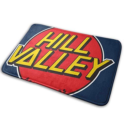 Hill Valley Hoverboards Zurück in die Zukunft Indoor Outdoor Teppich 40cmx60cm Haustürmatte Wasserdicht, rutschfest waschbar Feuchtigkeit schnell absorbieren
