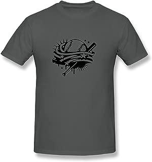 Men Baseball And A Baseball Bat With Stripes And Stars T-shirts,DeepHeather Tshirt By HGiorgis