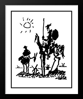 Don Quixote 20x23 Framed and Double Matted Art Print by Pablo Picasso