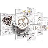 Bilder Küche Kaffee 5 Teilig Bild auf Vlies Leinwand Deko