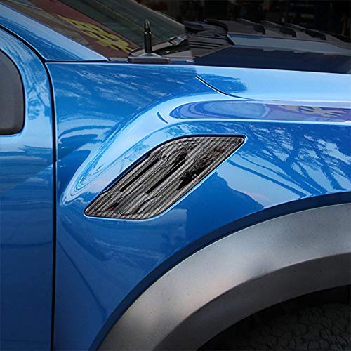 Justautotrim Front Side Fender Vent Chrome Cover Trims for 2017 2018 2019 Ford F150 Raptor Accessories
