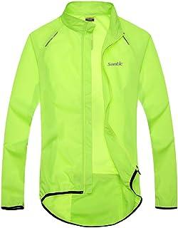 Santic Men`s Cycling Skin Coat Jersey Bicycle Windproof Jacket Light Rain Coat Green