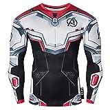 Nessfit Sweat-shirt de compression à manches longues pour homme S Team Avengers