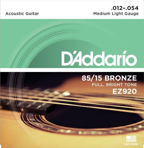 D\'Addario EZ920 Satz Akustikgitarren-Saiten, Bronze 012\' - 054\'
