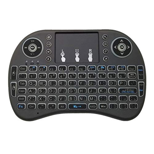 Teclados MJYGV, MICE y dispositivos de entrada Soporte de idiomas: árabe i8 teclado Aire ratón inalámbrico de luz de fondo con el Touchpad for Android TV Box y Smart TV y Tablet PC y Xbox360 y PS3 y H