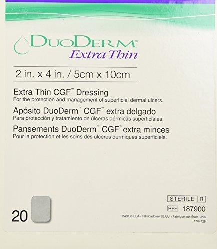 Duoderm 187900 - Rectángulo extra delgado 2.0 x 4.0 in (caja de 20 vendajes) por Convatec